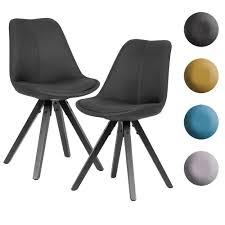 finebuy 2er set esszimmerstuhl mit schwarzen beinen stuhl skandinavisch polsterstuhl mit stoff bezug design küchenstuhl gepolstert