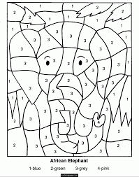 Excellent Color By Number Worksheets Kindergarten Collection Of