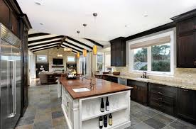 Kitchens With Dark Cabinets And Light Countertops by 22 Beautiful Kitchen Colors With Dark Cabinets Home Design Lover
