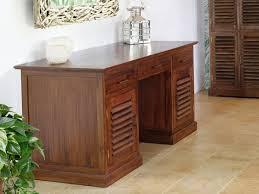 bureau bali ii 2 portes 3 tiroirs teck massif
