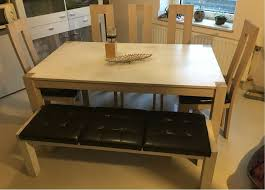 esszimmertisch mit 6 stühlen und bank