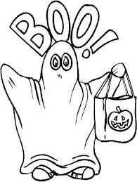 Ghost Coloring Pages Halloween