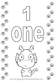 9 Pics Of Number One Coloring Page