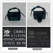 Cbb61 Ceiling Fan Capacitor 2 Wire by Facon Capacitor 2 Uf Ceiling Fan Capacitor 5 Wire With Ac