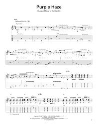 Rockin Around The Christmas Tree Chords Beatles by Purple Haze Sheet Music By Jimi Hendrix Guitar Tab Play Along