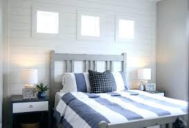 Shiplap Accent Wall In Bedroom Great Guest With