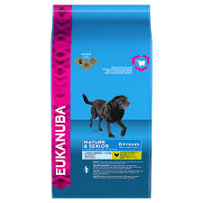 No Shed Dog Breeds Large by Eukanuba Mature U0026 Senior Dry Dog Food For Large Breed Chicken