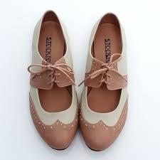 BN Womens Shoes Classics Dress Lace Ups Low Heels Oxfords Flats Pink Brown Black