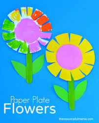 This Paper Plate Flower Craft Is A Great Spring And Summer For Kids It