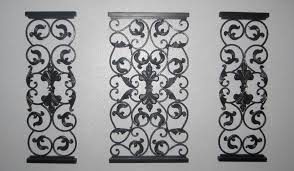 Extra Large Wrought Iron Wall Decor Classy Nice Decorative Panels Outdoor