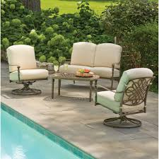 Restrapping Patio Furniture Houston Texas by Hampton Bay Cavasso 4 Piece Metal Outdoor Deep Seating Set With