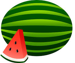 Watermelon clipart black and white free