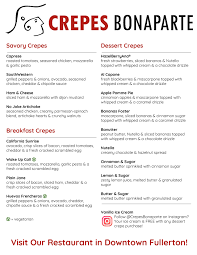 Food Truck Menu – Crepes Bonaparte | Restaurant + Catering + Food Trucks