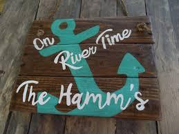 100 River House Decor Amazoncom Olga212Patrick On Time Wood Plaque Sign