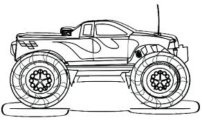 Monster Truck Coloring Pages Batman Car Printable Images For Kids Easy