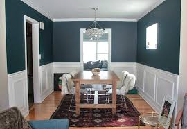 Grey And White Dining Room Classy Decor Dark Wall Laminated Wooden Floor