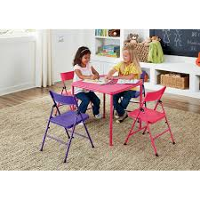 Cosco 5-Piece Kid's Table And Chair Set, Multiple Colors Meco Sudden Comfort Deluxe Double Padded Chair And Back 5 Piece Square White Table And Multi Color Set Cecilia Folding Tablechair Shopko Chairs At Office Max Cosco 5piece Vinyl Bridgeport 32inch Wood Card 48 Black Ding Amazoncom Mid Century Modern Gatefold Two Kids Multiple Colors Card Table Chairs Amazon Avalonmasterpro Sturdy Game Poker Walmartcom