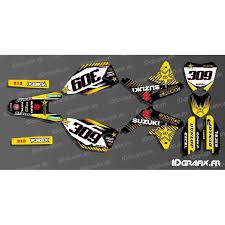 kit deco derbi rockstar kit déco 100 perso rockstar edition pour suzuki rm rmz kit de