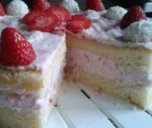 erdbeer raffaello torte