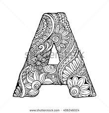 Hand Drawn Zentangle Rabbit Coloring Book Stock Vector 391201741