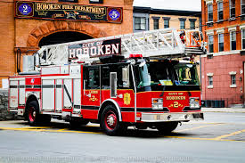 Hoboken, NJ Fire Department Ladder Truck .. Love The Colors Of These ...