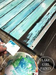 Lake Girl Paints Abstract Beach Art Chalk Paint ProjectsPallet