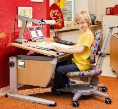student desks improving functionality of modern room