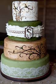 Image Of Simple Rustic Wedding Cake