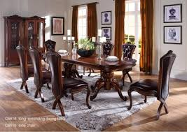 1 Indian Dining Room Furniture C6618 Wooden Traditional Table Carved Brown