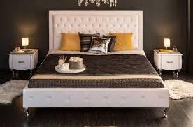 casa padrino chesterfield kunstleder doppelbett weiß silber 190 x 215 x h 130 cm massivholz bett mit kopfteil chesterfield schlafzimmer möbel