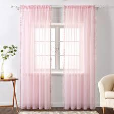 h x b rod pocket pink miulee 2er set voile vorhang