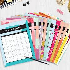 Cute 2018 Printable Monthly Calendars That Are FREE Blogilates