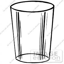 Clipart A Glass Cup In Black And White Royalty Free Vector Illustration