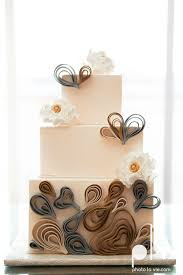 Quilled Cake Creme De La Fort Worth Bakery Wedding Custom Sarah Whittaker Photo Vie