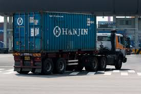Hanjin Shipping Should Finally Have Enough Cash To Unload Its ... Select Legal Boat Hauling Company For Shipping Putting The Big Ones On Bus Feed Yard Foodie Container Transit Truck Psd Mockup Mockups Side Loader Delivery Of 20ft Youtube Ship A Car From Usa To Africa Get Rates Overseas Relocations Sea Containers Nz Tangerine Mandarin Demand And Fuel Plus An Mec Truck Hauling An Evergreen Shipping Container Along M20 Sunnyfield Veg Ltd Whats Best Way The Autotempest Blog