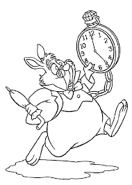 Disney Alice In Wonderland White Rabbit Coloring Page Another Picture And Gallery About Pages Mad Hatter Co