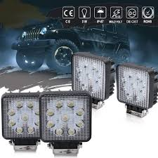 4X 27W CREE LED Work Light For Truck OffRoad Tractor Flood Lights ... 4x 4inch Led Lights Pods Reverse Driving Work Lamp Flood Truck Jeep Lighting Eaging 12 Volt Ebay Dicn 1 Pair 5in 45w Led Floodlights For Offroad China Side Spot Light 5000 Lumen 4d Pod Combo Lights Fog Atv Offroad 3 X 4 Race Beam Kc Hilites 2 Cseries C2 Backup System 519 20 468w Bar Quad Row Offroad Utv Free Shipping 10w Cree Work Light Floodlight 200w Spotlight Outdoor Landscape Sucool 2pcs One Pack Inch Square 48w Led Work Light Off Road Amazoncom Ledkingdomus 4x 27w Pod