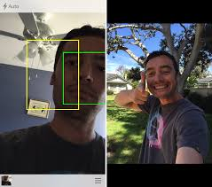 SelfieX helps you take better selfies using the rear camera of