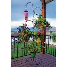 Outdoor Patio Plant Stands by Essential Garden Hanging Basket Plant Stand Outdoor Decoration