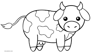 Cow Coloring Page At Book Online