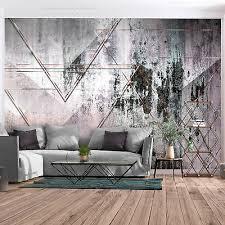vlies fototapete grau beton stein rosa tapete modern wohnzimmer wandbilder