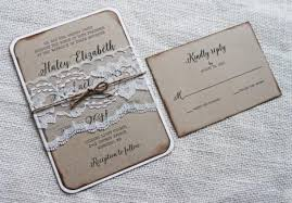 Rustic Vintage Lace Wedding Invitation The Perfect Mix Of And Elegant Is Printed On Eco Kraft Card Stock