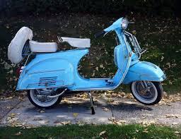 Vintage Vespa Super Blue