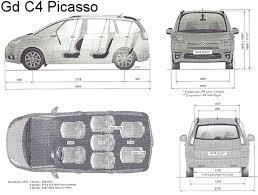 grand c4 picasso dimensions coffre 28 images citro 235 n grand