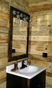 Perfect Primitive Vanity Lights Rustic Barnwood Mirror Light Mason Jar Farmhouse Style