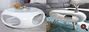 couchtisch weiß hochglanz designer tisch für das moderne