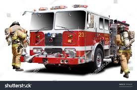 100 Fire Truck Red Big Isolated On RoyaltyFree Stock Image