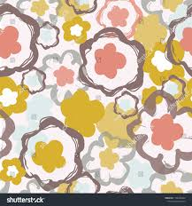 100 Pop Art Home Decor Retro 1960s Floral Pattern Stock Vector Royalty