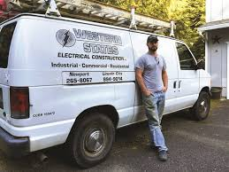 Electrician Eric Shermans Ford E 250 Cargo Van Contains Shelves And Bins For Better Organization