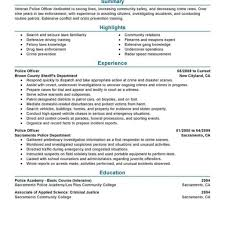 Best Police Officer Resume Example